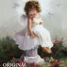 Angel Baby Sitting Cross Stitch Pattern ETP