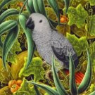 Tropical African Grey Cross Stitch Pattern Parrots Birds ETP