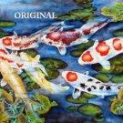 Koi Pond Cross Stitch Pattern Fish Oriental ETP