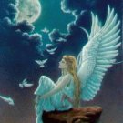 Blue Angel Cross Stitch Pattern Fantasy ETP
