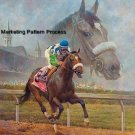 Barbaro Remembered Cross Stitch Pattern Thoroughbred Horses ETP
