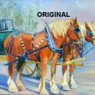 Carriage Horses Cross Stitch Pattern Livery ETP
