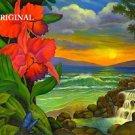 Hawaiian Orchids Cross Stitch Pattern Tropical ETP