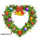 Heart Shaped Christmas Wreath Cross Stitch Pattern ETP