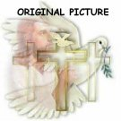 Christian Collage Cross Stitch Pattern Jesus Dove Cross ETP