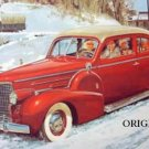 1940 Cadillac Cross Stitch Pattern Retro 40s Cars ETP