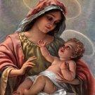 Madonna And Child Cross Stitch Pattern Catholic ETP