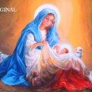 Mary & Baby Jesus Cross Stitch Pattern Bible Christian ETP