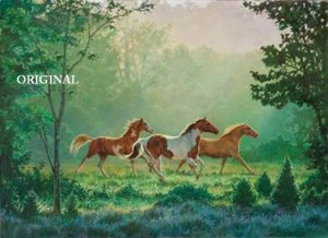 Daybreak Gallop Cross Stitch Pattern Horses ETP