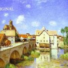 Moret Bridge ~ France Cross Stitch Pattern Landscape ETP