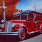 1937 Seagrave Ambulance Cross Stitch Pattern Vintage Auto ETP