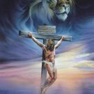 Crucifixion~Lion & Lamb Cross Stitch Pattern Bible Christian ETP