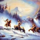 Indian Mountain Trek Cross Stitch Pattern Native American ETP