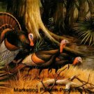 Wild Turkeys Cross Stitch Pattern Birds ETP