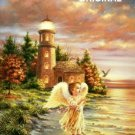 Angel at Lighthouse Point Cross Stitch Pattern Fantasy ETP