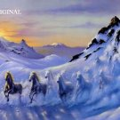 Avalanche of Horses Cross Stitch Pattern Snow Optical ETP