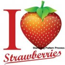 I Love Strawberries Cross Stitch Pattern Fruit Food ETP