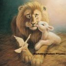 Lion Lamb Dove Cross Stitch Pattern Bible Christian ETP