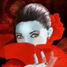 Red Flamenco Cross Stitch Pattern Spanish Dancer ETP