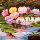 Lotus Lily Pond Cross Stitch Pattern Flowers ETP