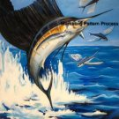 Sailfish 1 Cross Stitch Pattern Game Fishing Marine ETP