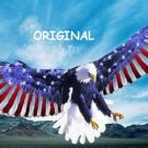 Eagle ~ Flag Wings Cross Stitch Pattern Patriotic ETP