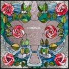 Art Nouveau Roses Cross Stitch Pat Stain Glass Look ETP