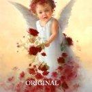 Baby Angel Roses X Stitch Pattern Christian Children