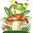 Frog & Toadstool Cross Stitch Pattern