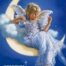 Girl in the Moon Cross Stitch Pattern Fantasy ETP