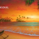 Island Sunset Cross Stitch Pattern Tropical Seascape ETP