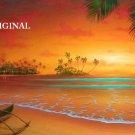 Island Sunset Cross Stitch Pattern Tropical Seascape ETP