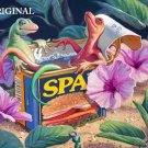 Lizard Spa'm' Cross Stitch Pattern Fantasy Cute ETP