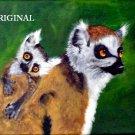 Lemur Mom & Baby Cross Stitch Pattern Madagascar ETP