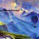Mountain Balloon Ride Cross Stitch Pattern Aircraft ETP