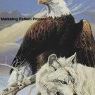 Eagle & Wolf Cross Stitch Pattern Native American