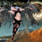 Dark Angel Cross Stitch Pattern Fantasy ETP