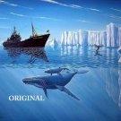 Sea Shepherd Ship Whales Cross Stitch Pattern EPT