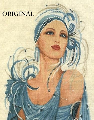 Art Deco Flapper Cross Stitch Pattern ETP