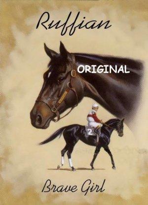 Ruffian Remembered Cross Stitch Pattern Race Horses ETP