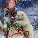Polar Bear Christmas Girl Cross Stitch Pattern ETP
