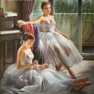 2 Ballerinas Cross Stitch Pattern Ballet Dance ETP