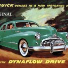 1948 Buick Advert Cross Stitch Pattern Vintage Cars