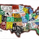US License Plate Map Cross Stitch Pattern ETP