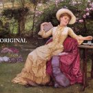 Victorian Tea Garden Cross Stitch Pattern Painting ETP