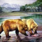 Fishin' Grizzlies Cross Stitch Pattern Bears ~ETP~