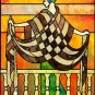 Art Deco Balcony Stained Glass Cross Stitch Pattern ~ETP~