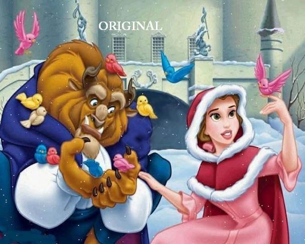 Beauty and the Beast 5 Cross Stitch Pattern Disney Belle ~ETP~
