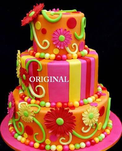 Daisy Cake 1 Cross Stitch Pattern Cake Decorating