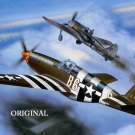 P-51 Mustang Dogfight Cross Stitch Pattern WWII